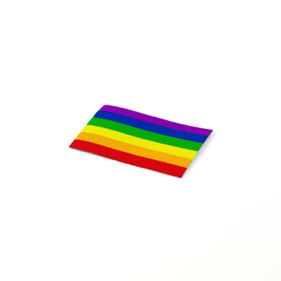 Pride Labels - Iron-On Rainbow Flag